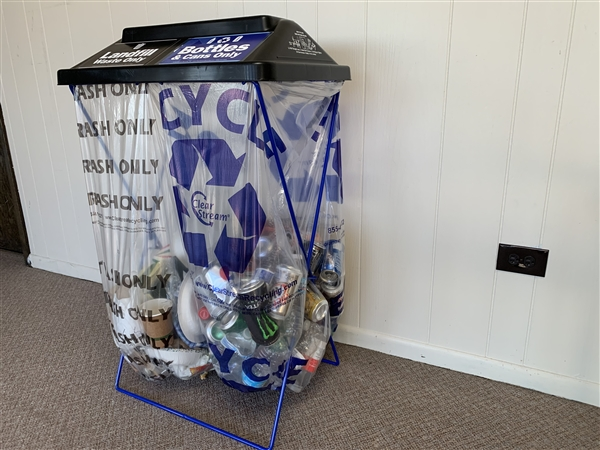 Clearstream dualstream blue cyclemax x stream x frame recycler event recycling containers - Collapsible trash bins ...
