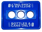 ClearStream Recycling Bottles & Cans 3 Hole Lid - Blue