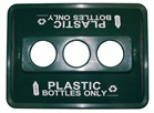 ClearStream Recycling Bin Lid - 3 Holed - Bottles Only - Green