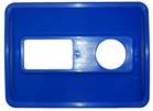 Dual Split Recycling Bin Lid in Blue