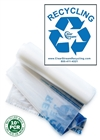 Double Sided Recycling Bags - 200 Count - Clear