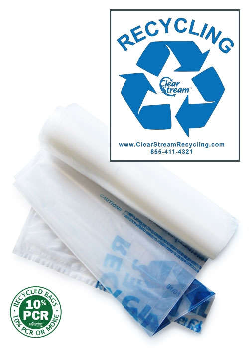 Double Sized Recycling Bags - 200 Count - Clear