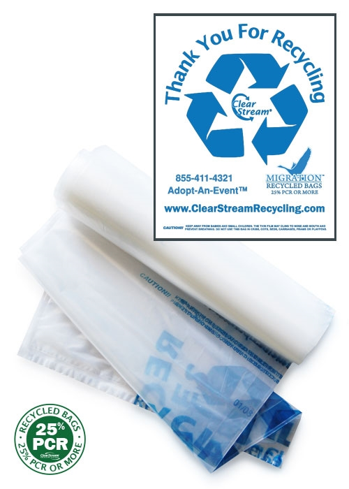 Double Sided Recycling Bags - 100 Count - Clear