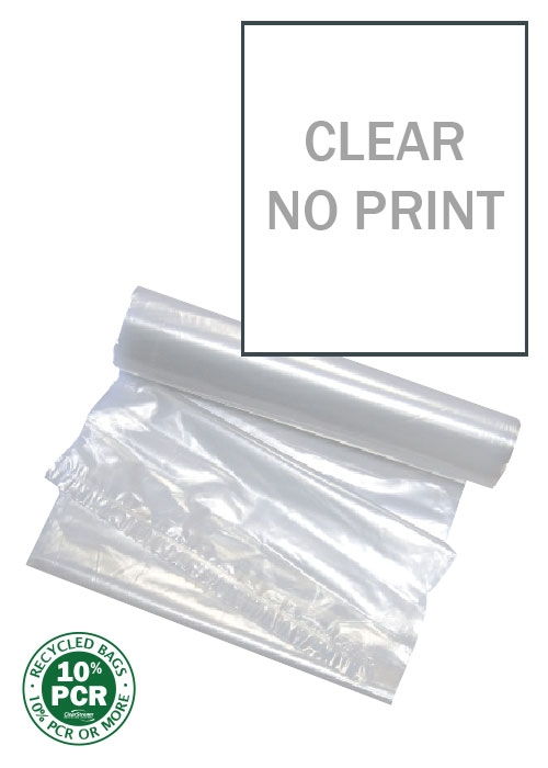 Clear Bags - No Print - 100 Count