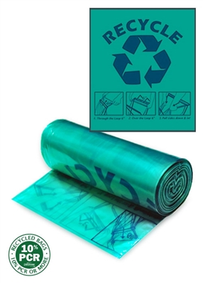 ClearStream Recycling Bag (Green with Blue Print)
