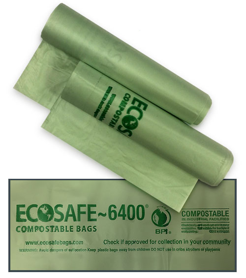 COMPOSTABLE BAGS DUAL SIZE <br>TRANSLUCENT GREEN - 135