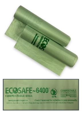 ClearStream Compostable Bags <br>Translucent Green - 80