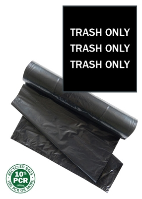 ClearStream Trash Bags Dual  (Black with White Print)