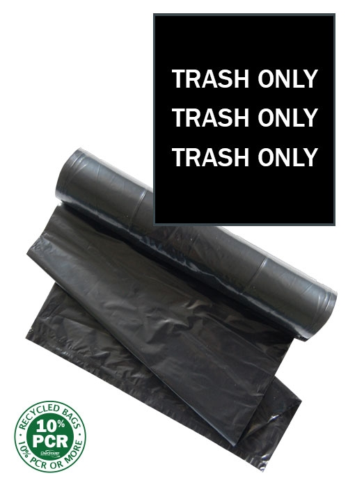 ClearStream Trash Bags (Black with White Print)