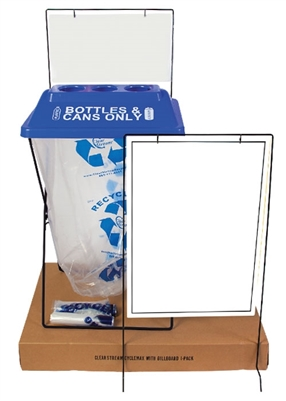 Discovery Kit - Single Unit Recycling Bin with Sign