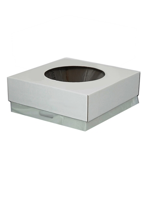 "Unprinted Event Box Lid - 8"" Hole"