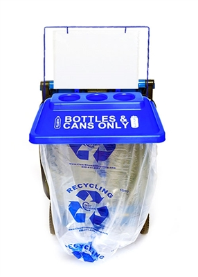 SideKick One Instant Recycling Station - Blue (1 pack, with Billboard Sign Kit)