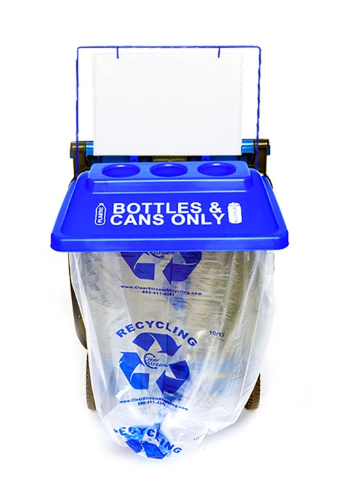 Instant Add On Recycling Bin, Blue, 1, Side Kick
