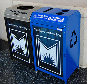 Stationary Recycling Containers